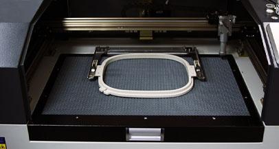 Laser cutting reverse applique